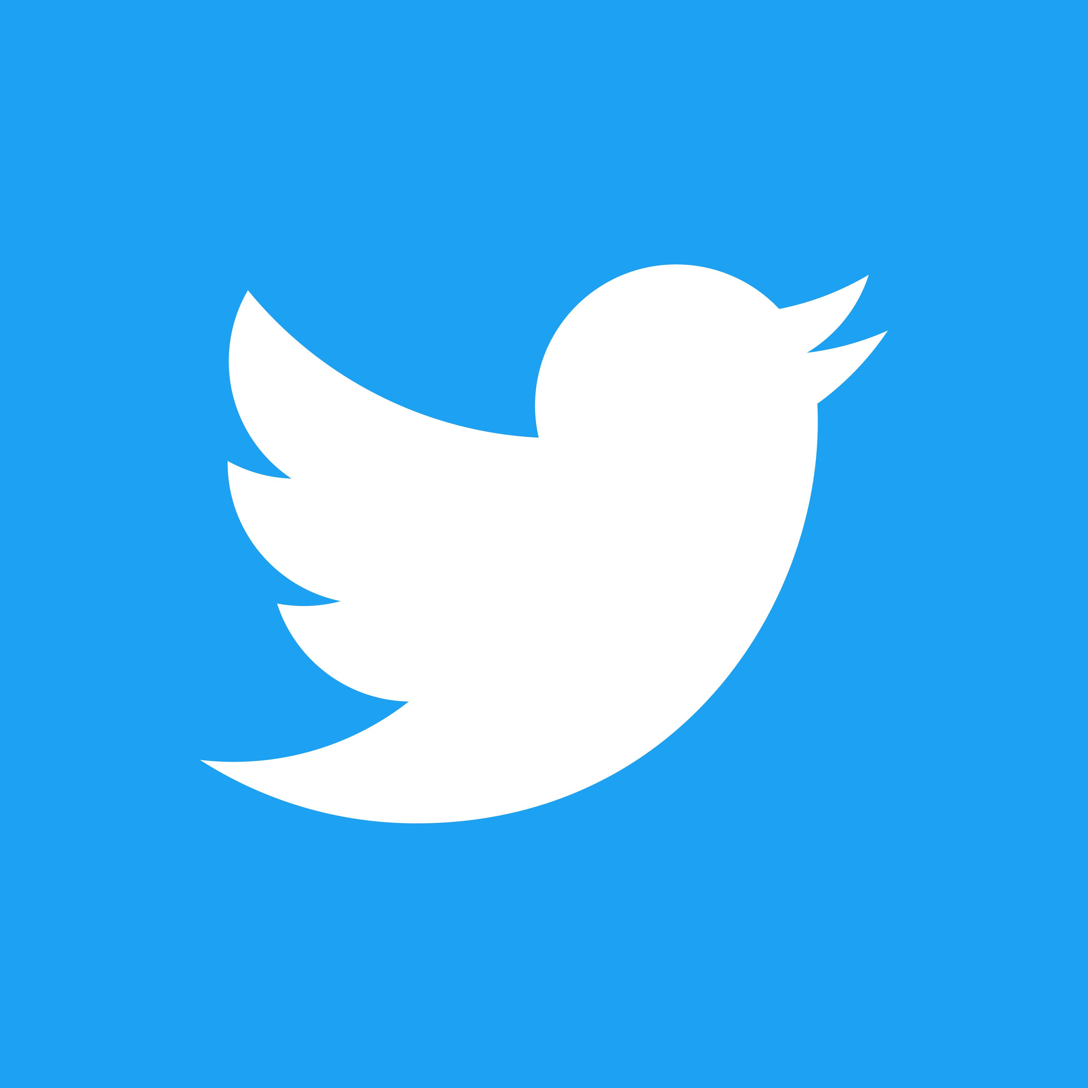 Twitter logo tile